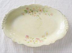 Homer Laughlin Virginia Rose Platter - Vintage, French Decor, Shabby Chic, Serving, Wedding, Wedding Gift, Feminine, Floral, Farmhouse