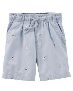 Baby Boy Pelican Print Camp Shorts from Carters.com. Shop clothing & accessories from a trusted name in kids, toddlers, and baby clothes.