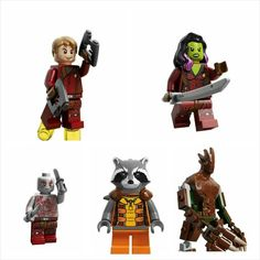 Lego has unveiled the Guardians of the Galaxy Lego figures.