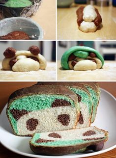 Peekaboo Panda Bread  It doesn't really get much cuter than this! It's definitely going to be more challenging than a traditional loaf of ...