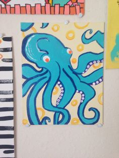 Octopus Painting by pAINTgotNoWorries on Etsy, $35.00