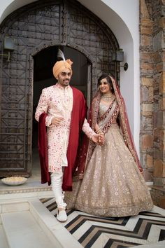Designer Bridal Lehenga, Bridal Lehenga Choli, Indian Gowns Dresses, Bridal Dresses, Indian Bride And Groom, Bride Groom, Groom Wear, Indian Bridal Outfits, Bridal Collection