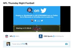 Heres how to watch Thursday Night Football on Twitter tonight