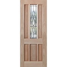 Woodcraft Doors 2040 x 820 x 40mm Hamlett Entrance Door With Teardrop Glass $570 Feb'15 Bunnings Special Orders