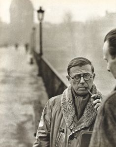 Jean-Paul Sartre photographed by Henri Cartier – Bresson in 1946