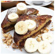 "Eating New York on Instagram: ""Nutella French Toast with Bananas taken by @s_testa #eatingnewyork"""