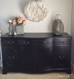 How to paint furniture black like a boss