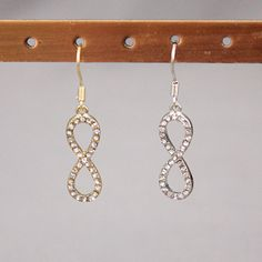 Infinity Hanging Earrings Pi Day Wedding, Hanging Earrings, Drop Earrings, Infinity, Fashion Jewelry, Diy Crafts, Infinite, Trendy Fashion Jewelry, Make Your Own