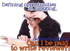 """Not Disney, but should be of interest to my Disney blogging friends. """"Defining Opportunities in Blogging: Should a blogger get paid for that?!"""""""
