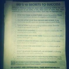 Habitually Chic® » 10 Secrets to Success