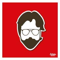 """pictogram of """"El profesor"""" person of the series """"La Casa de papel"""" played by @alvaromorte #lacasadepapel #elprofesor #alvaromorte #pictogram #red #ilustration #design #stickers #vector #art #theteacher #artesmedia #netflix  https://www.instagram.com/scher.design/"""