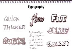 Getting Started With Sketchnoting, Typography