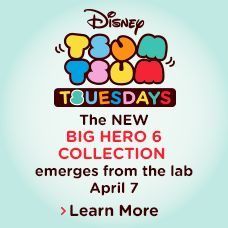 Tsum Tsum Tsuesdays - the New Big Hero 6 Collection emerges from the lab on April 7 - Learn More.......YAY