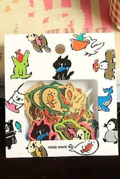 Photo1: Japanese Paper Seal Flakes - Animals