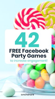 42 free facebook party games pinterest