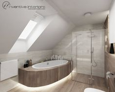 Znalezione obrazy dla zapytania łazienka na poddaszu