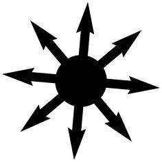 A Estrela do Caos (Chaos Star), também denominada de Caosfera, possui oito pontas equidistantes que partem de um ponto central, e pode representar o vazio do cosmos, o universo ou ainda, as oito direções (oito portas), tal qual a rosa dos ventos, composta dos quatro elementos (terra, água, ar e fogo) e os quatro estados intermediários da matéria (o seco, o úmido, o frio e o quente).    Foi criada originalmente pelo escritor britânico Michael Moorcock com o intuito de representar o Símbolo do…