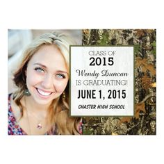 Camo Graduation Invitations
