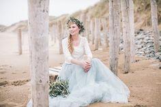 2 people 1 Life: Wedding 41 – The Chill of Blustery Ireland, A Beautiful Beach Ceremony Light Blue Wedding Dress, Blue Wedding Dresses, Flower Girl Dresses, Celtic Wedding, Boho Wedding, Dream Wedding, Seaside Wedding, Destination Wedding, Groom Colours