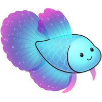 Kawaii Blue and purple fish Fish Drawings, Cute Animal Drawings, Kawaii Drawings, Cartoon Drawings, Cute Drawings, Cute Cartoon Animals, Cute Animals, Fish Silhouette, Cute Clipart