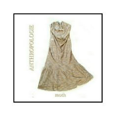 """ANTHROPOLOGIE - """"MOTH"""" FLARED DRESS ANTHROPOLOGIE - """"MOTH"""" FLARED MINI SKIRT SIZE XS - fits more like a small Has racer like back and cowl neck with fitted Waist Flaring skirt with a lot of stretch 100% spun rayon (there's a lot of stretch) Very, very comfortable Anthropologie Dresses Mini"""