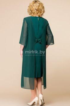 Платье Romanovich, зелёный (модель 1485) — Белорусский трикотаж в интернет-магазине «Швейная традиция»