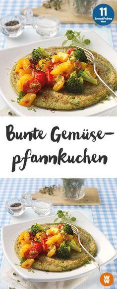Bunte Gemüsepfannkuchen   2 Portionen, 11 Punkte/Portion, Weight Watchers, fertig in 35 min.
