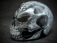 Custom Motorcycle Helmets | Skull Motorcycle Helmet II - Custom Painted Motorcycle Helmet