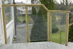 Bilderesultat for lekter utendørs rekkverk glass