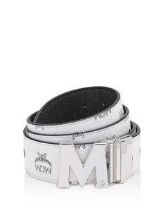 MCM Buckle Reversible Signature Belt. #mcm #belt