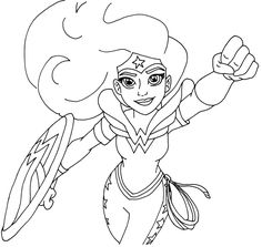 free printable super hero high coloring page for wonder woman more are coming i - Girls Colouring