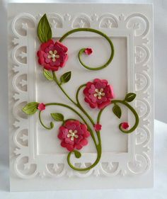 Vine Flower Card  Great For Birthday Thank by ThePaperExpressions,