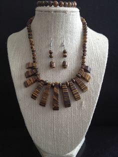 Aura Turquoise Bead Necklace Bracelet Earrings #turquoise #necklace #stone #fashion