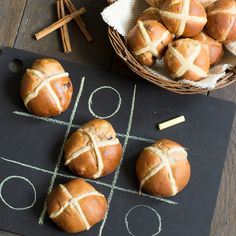 This Apple Cinnamon And Raisin Hot Cross Buns Recipe has a lovely moistness from the finely diced apple and makes a change from the regular hot cross buns.
