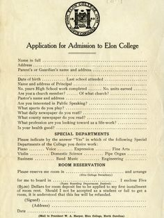 College Application From 1922 Shows How Much America Has Changed In 100 Years Application Letters, College Application, High School Memes, Apply For College, College Names, Student Memes, College Admission, Education Humor, Interesting Reads
