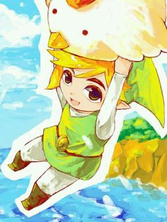link, Legend of Zelda, and wind waker Bild