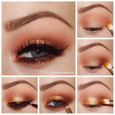 I would love to recreate this look using Younique eye pigments Giddy and Gorgeous and Curious