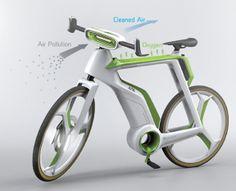 велосипед, очищающий воздух