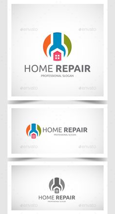Buy Home Repair Logo by mangga on GraphicRiver. Home Repair Logo: - Ai and EPS - CMYK - 300 dpi - vector - Fullyeditable - Support files - Used Fonts: - Ubuntu . Circle Logo Design, Circle Logos, Logo Design Template, Logo Templates, Graphic Design, Logo Photoshop, Home Repair Services, Logos Ideas, Construction Logo Design