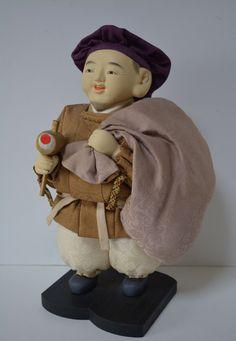 Daikokuten, display figurine, vintage Japanese Seven Lucky Gods by StyledinJapan on Etsy
