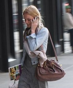 79eef74a367 Authentic Chloe Paraty Shoulder Bag - Medium (Brown) Kate Bosworth Style