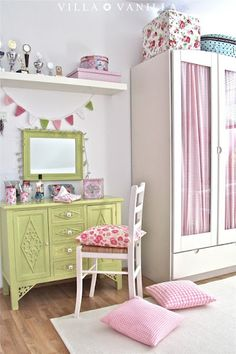 Villa ✪ Vanilla:Lindo para cuarto de niñas, colores y muebles