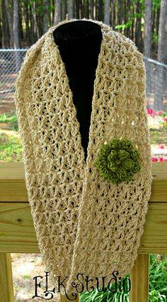 Lacy Summer Scarf by Kathy Lashley  Published in ELK Studio - Handcrafted Crochet Designs