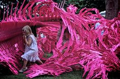 Bloom - The Game, by Alisa Andrasek & Jose Sanchez, Reminds me of the red vines in War of the Worlds. Social engagement and rhythmic construction the current trend in design for play. As seen on Playscapes.