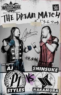 The Dream Match — AJ Styles vs. Shinsuke Nakamura: photos
