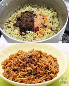 그릇까지 싹싹 핥는다는 '마약 라면 요리' 레시피 6가지 Food Menu, Recipe Collection, Risotto, Noodles, Spaghetti, Menu Recipe, Cooking, Ethnic Recipes, Korean