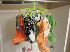 A lesson in line drying cloth diapers