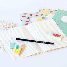 Notebooks with delicious patterns. A5 format, price DKK 5,88 / SEK 7,90 / NOK 7,77 / EUR 0,83 / ISK 179 #office #kontor #greneoffice #grenekontor #sostrenegrene #søstrenegrene – sostrenegrene.com