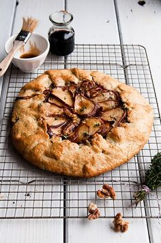 Gorgonzola, Pear, and Balsamic Honey Galette