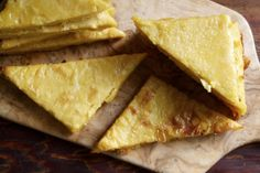 Authentic Italian Chickpea Flatbread. 4 ingredients (chick-pea flour, water, s, olive oil)